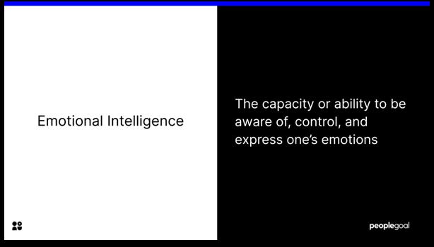 Emotional Intelligence - definition