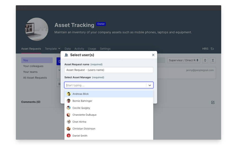 asset tracking launch
