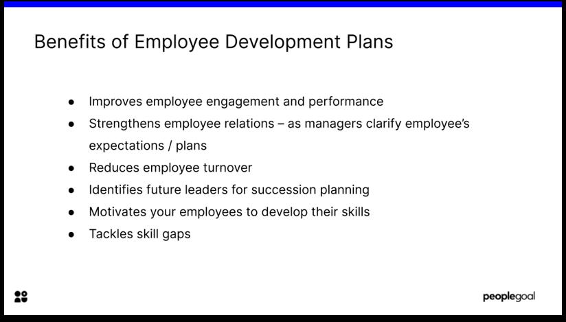 Benefits of Development Plans