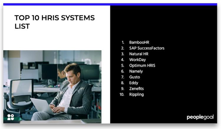 top 10 hris systems list