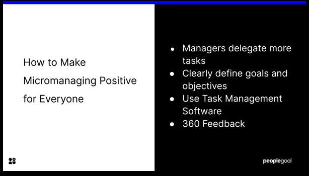 positive micromanagement
