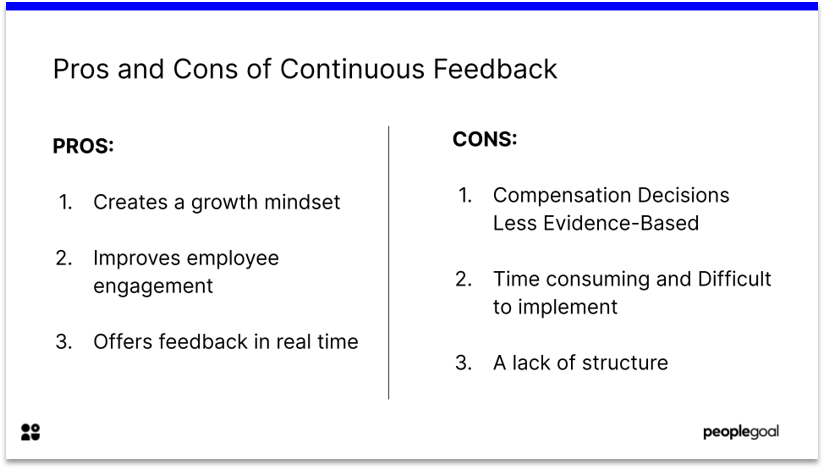 Pros and Cons of Continuous Feedback