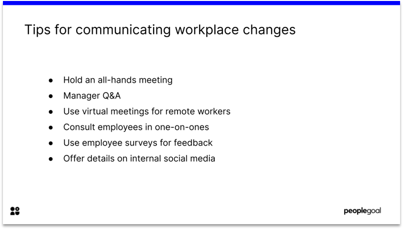 Change management for Hybrid Workplaces