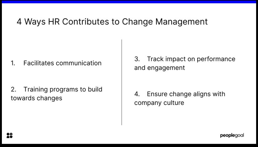 4 Ways HR contributes to Change Management