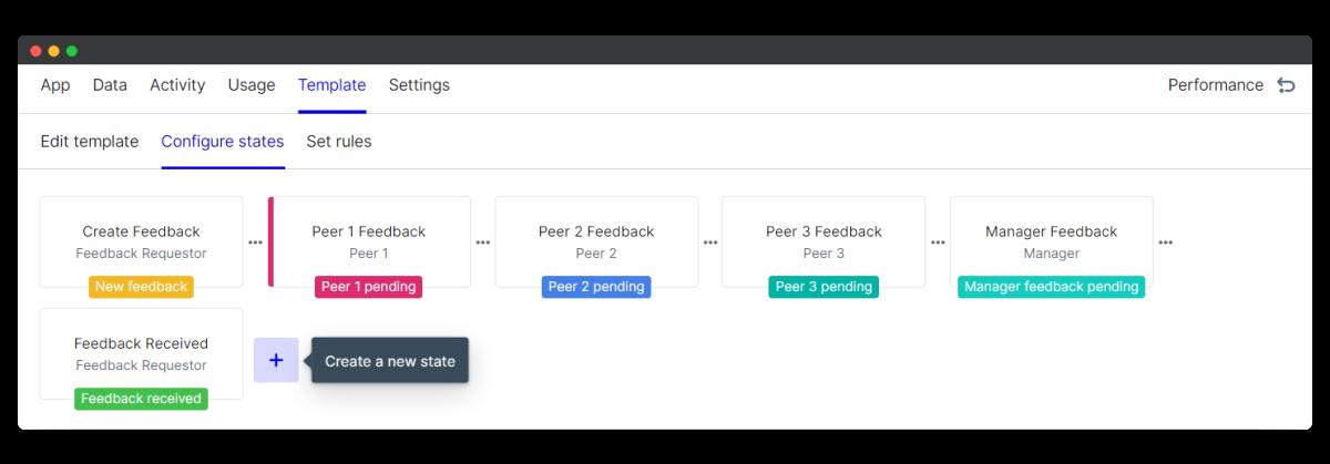 360 feedback create new state