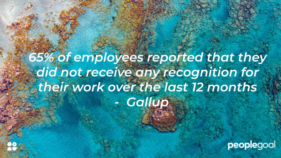 65% of workers did not receive recognition in last 12 months