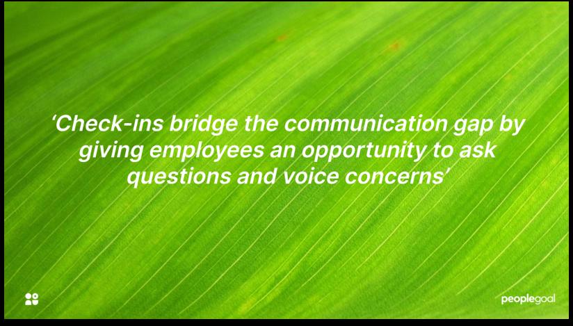 Performance check ins communication