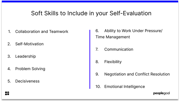 Self-Evaluation - Soft Skills to Include in your Self-Evaluation