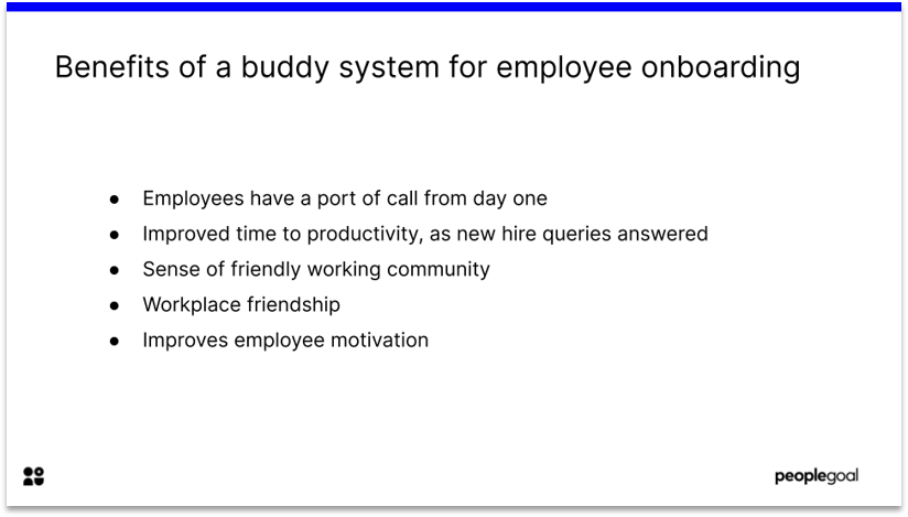 Benefits of a buddy system for employee onboarding