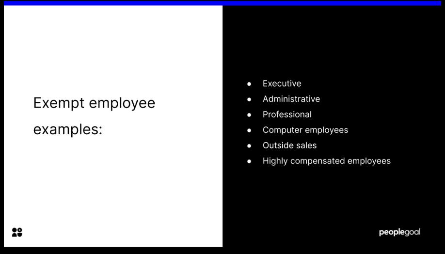 exempt vs non exempt employees exempt examples