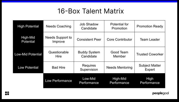 Talent Matrix - 16 box template