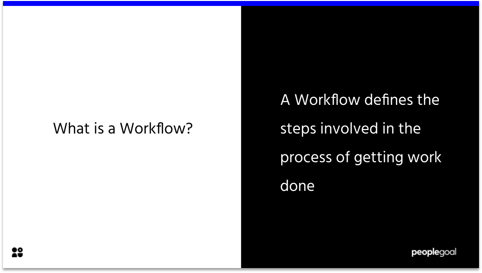 Workflow definition - task management