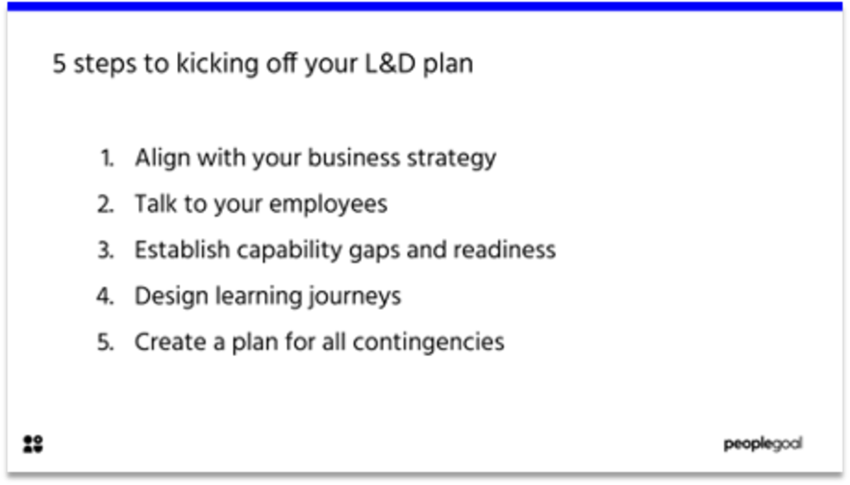5 steps to kicking off your learning and development plan