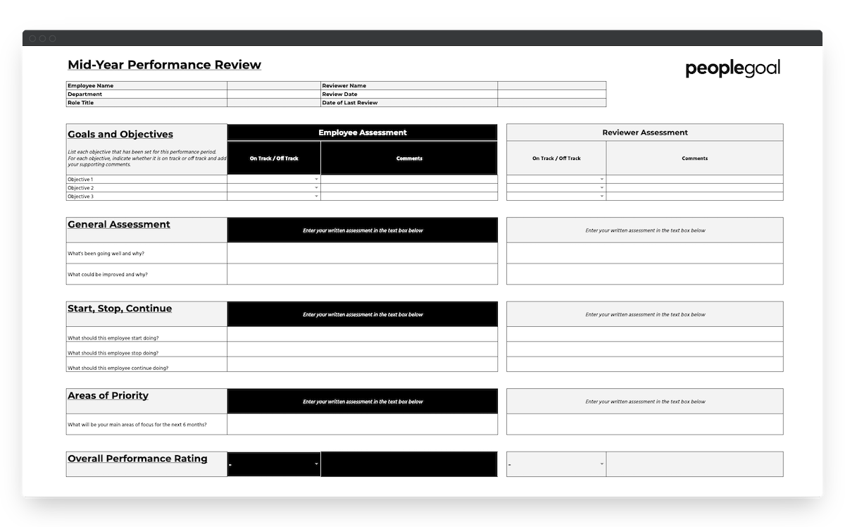 peoplegoal midyear performance review template