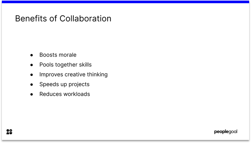 Benefits of Collaboration from Self-Assessments