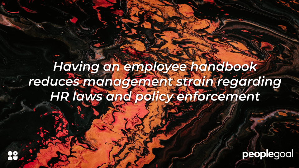 policy enforcement and employee handbook