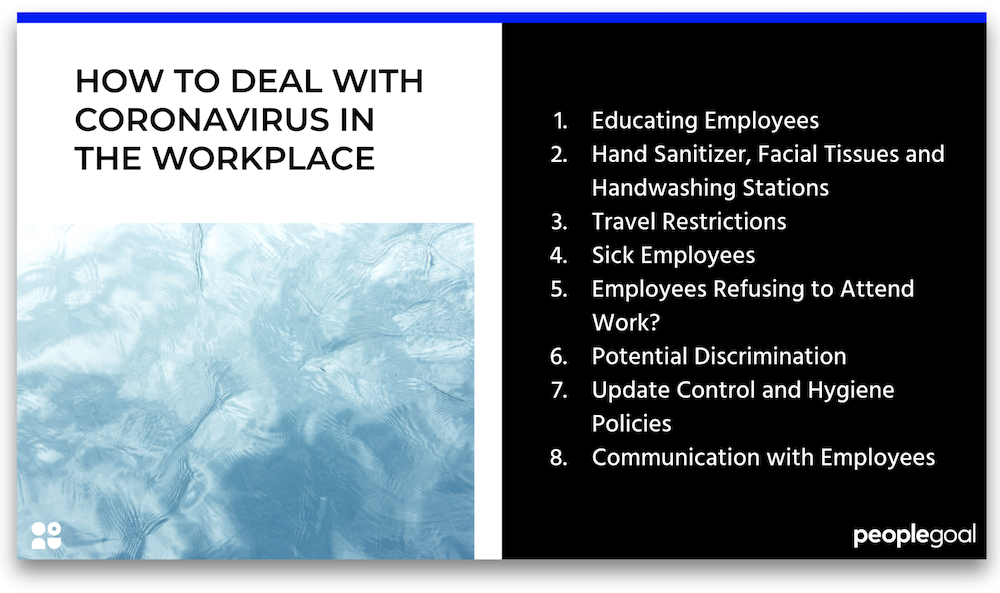 how to deal with coronavirus in the workplace