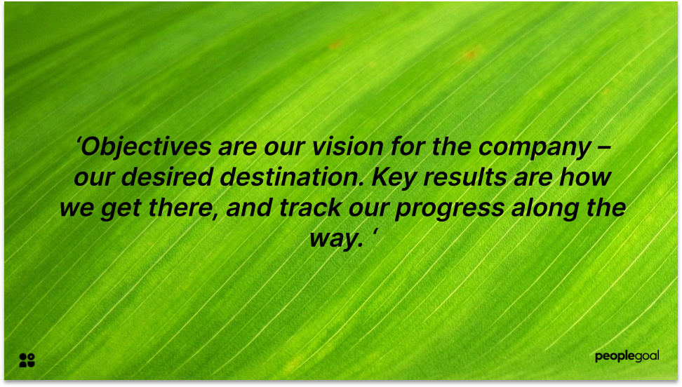 Objectives and Key results definition