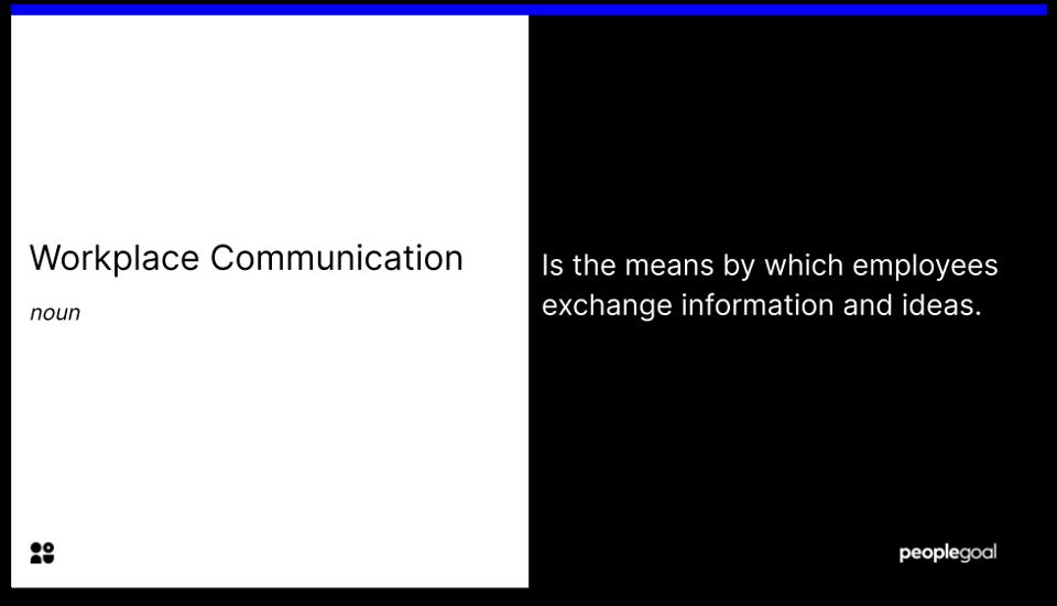 workplace communication - definition