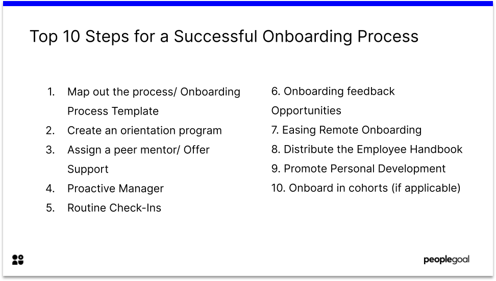 Top 10 Steps for a Successful Onboarding Process
