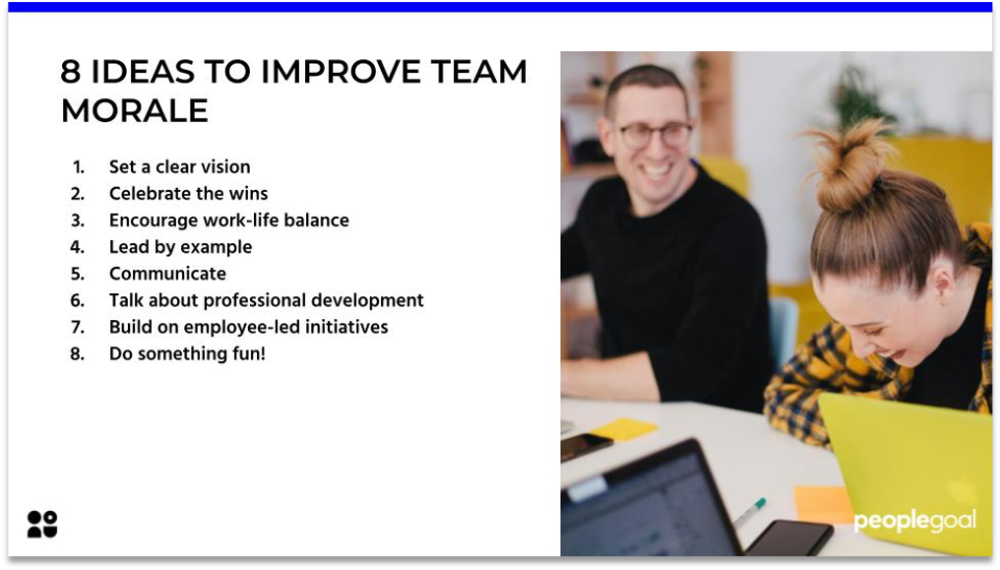 8 Ideas to Improve Team Morale