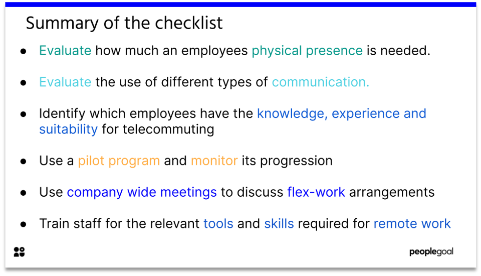telecommuting - summary