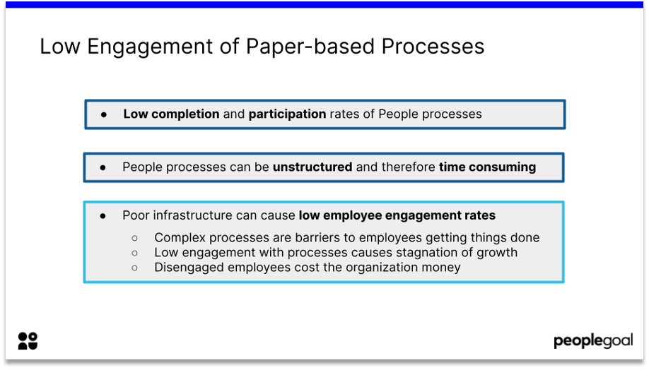 hr tech lack of engagement in paper based processes