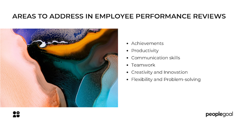 Areas to address in employee performance reviews