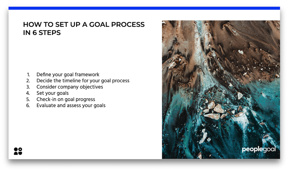 how to set up goal process in 6 steps