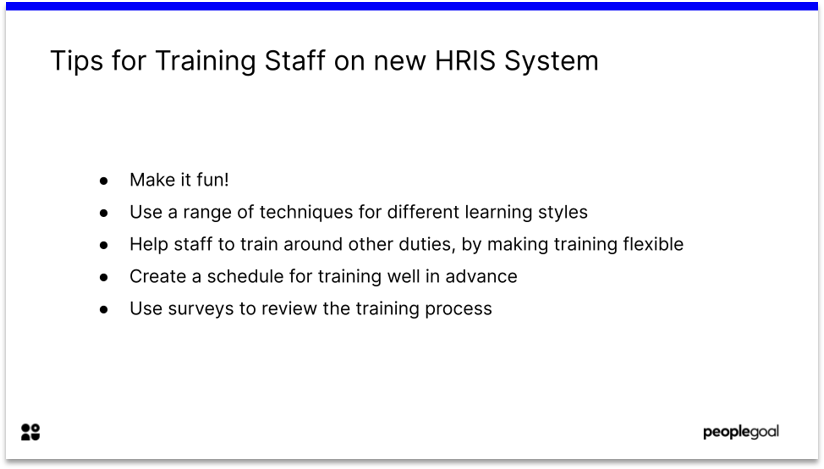 Training Staff Paper based to web based hr