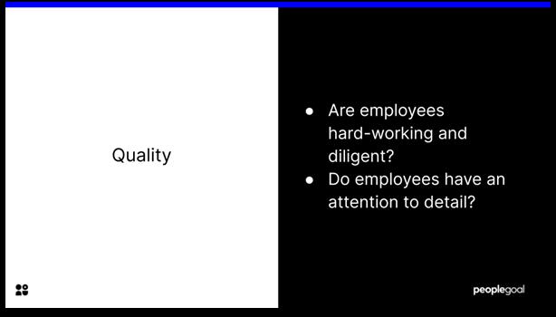 Key Performance Indicators - quality