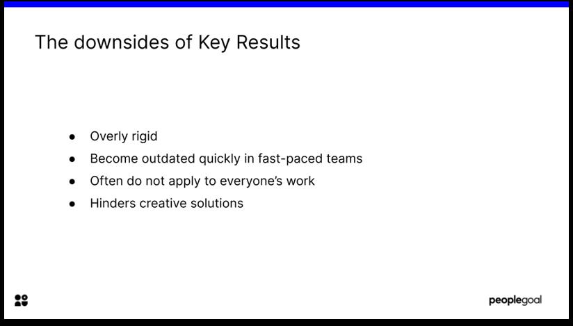 OKR framework Key results