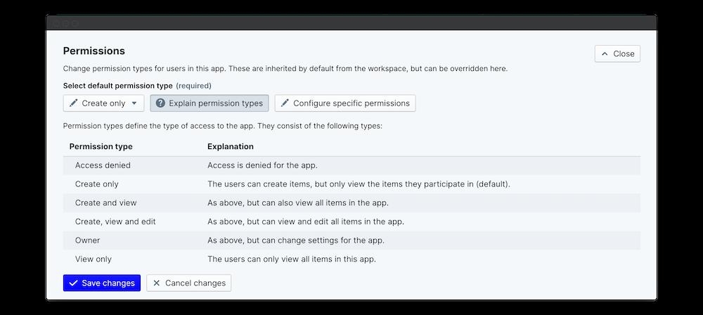 new joiner survey explain permissions
