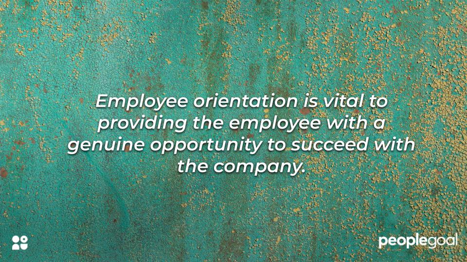 Create an orientation program
