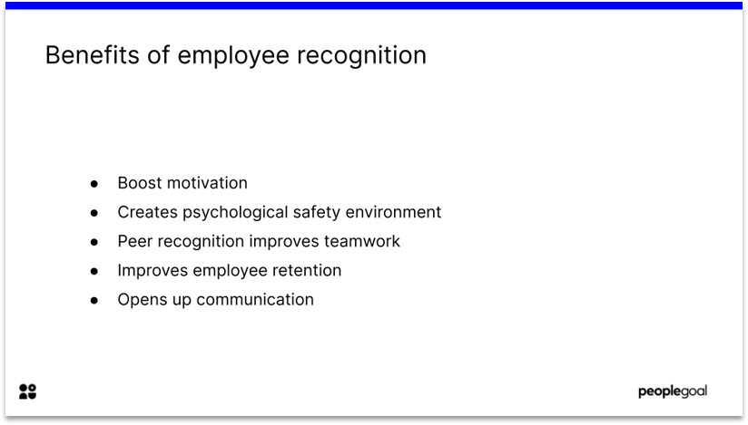 Benefits of Employee Recognition