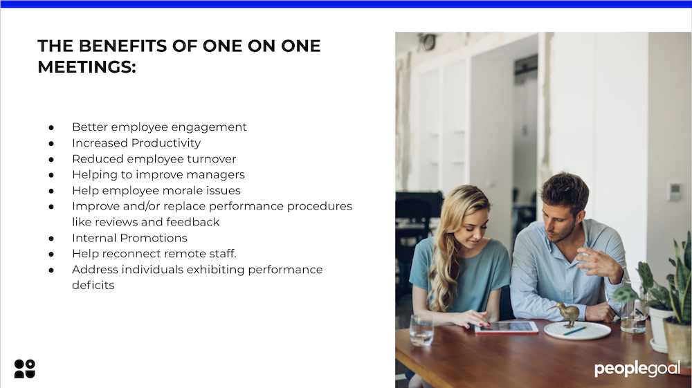 the benefits of one on one meetings