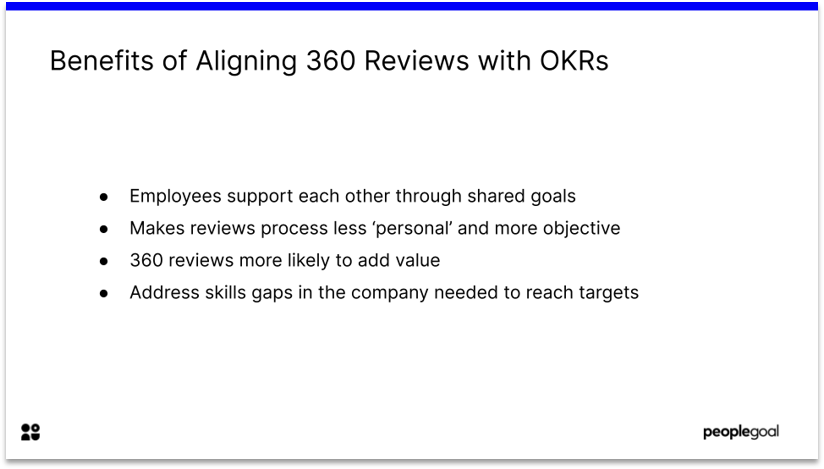 Benefits of 360 performance reviews and OKRs