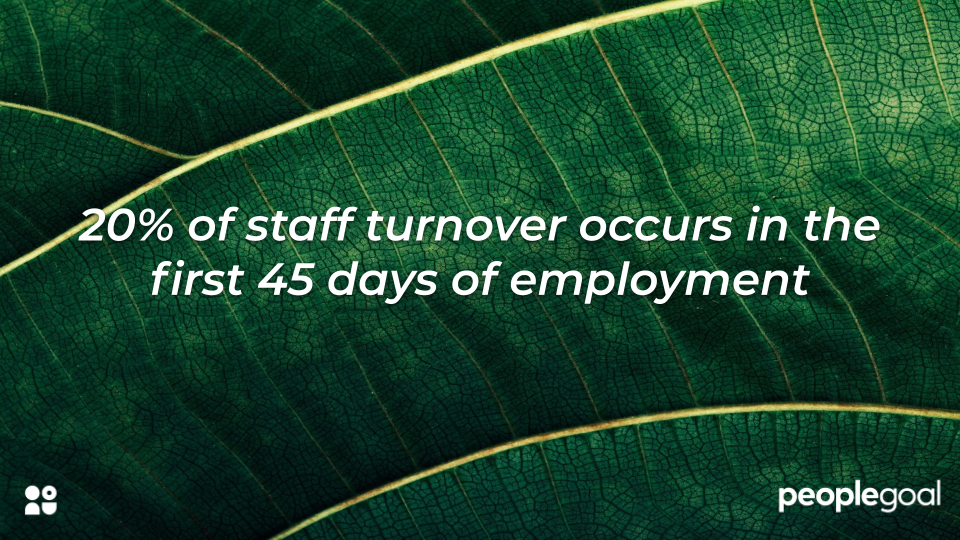 Onboarding turnover statistic