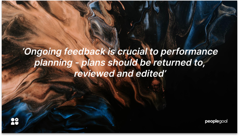 Ongoing feedback for performance planning