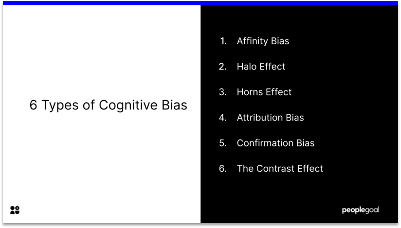 6 Types of Cognitive Bias that Impact on Performance Reviews