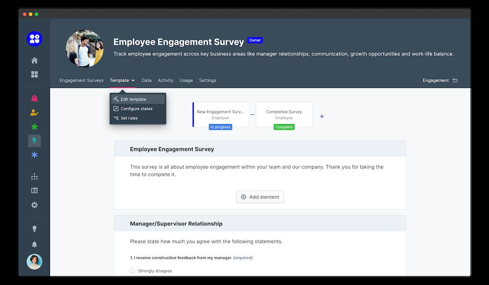employee engagement survey edit app template