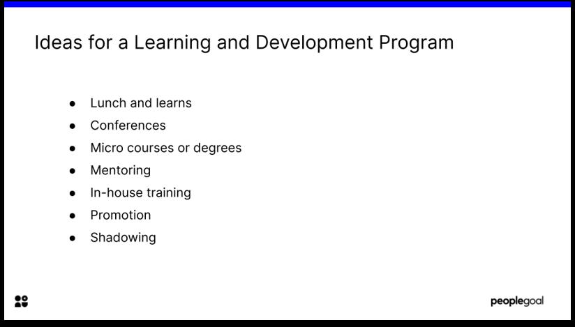 Ideas for Development Program for Development Plans