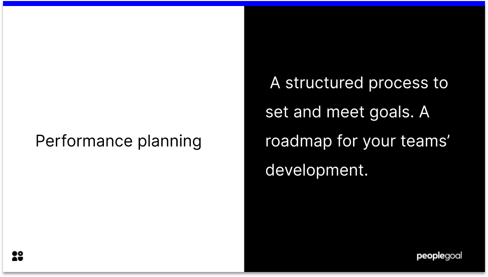 Performance planning definition