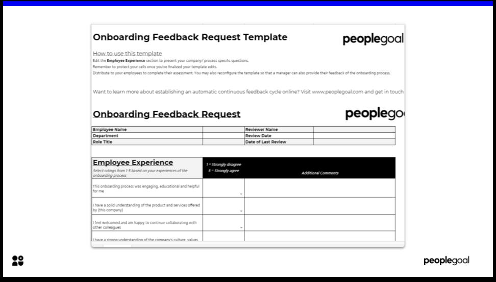 Onboarding Feedback Request Template