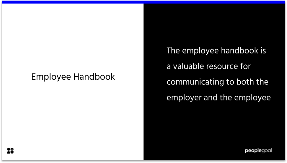 employee handbook definition
