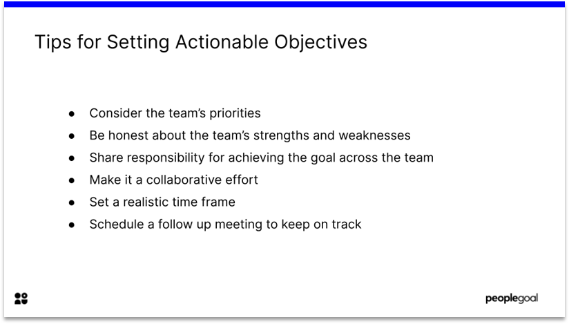 Objectives and key results actionable objectives