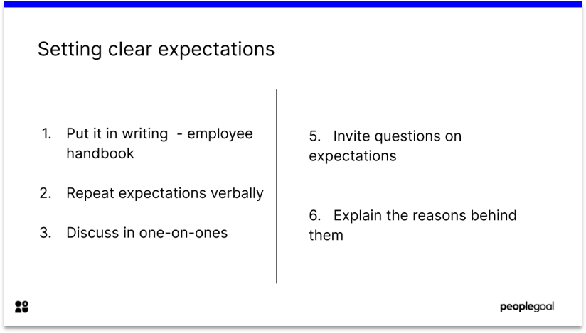 Setting expectations to reduce Employee Turnover