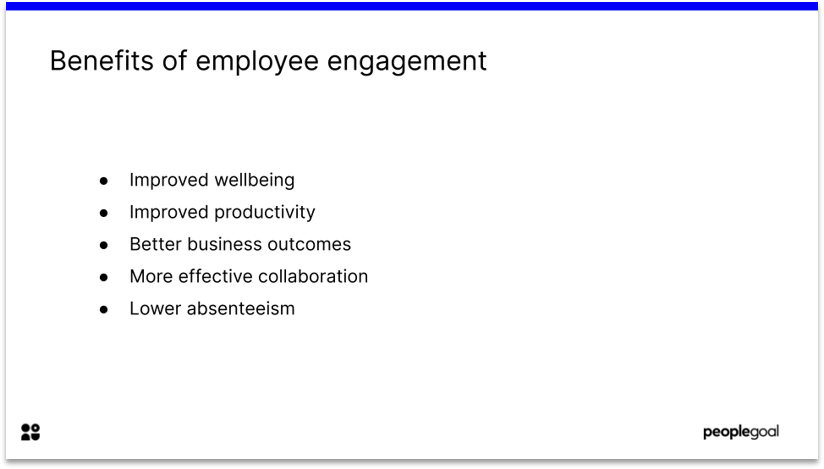 Benefits of employee engagement