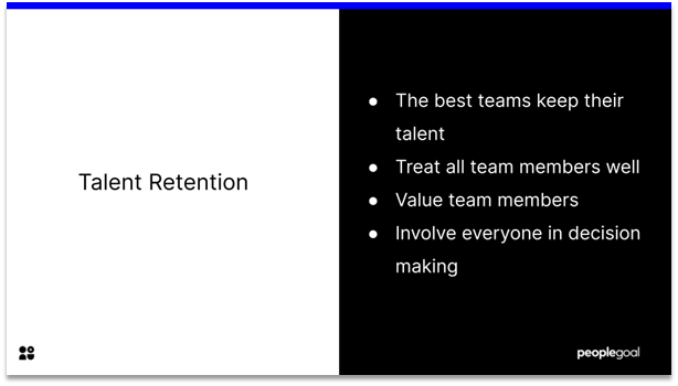 High Performing Teams - talent retention