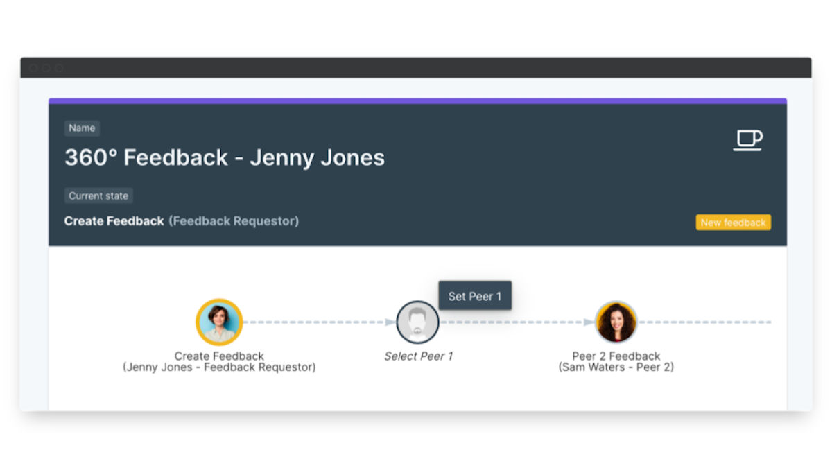 360 degree feedback software automated workflow